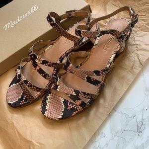 NWT! Madewell Skinny Strap Sandals